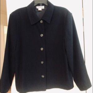 Jet black lightweight jacket petite large